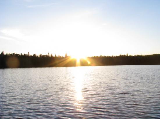 coucher soleil lac giguère